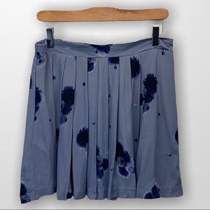 ARITZIA Sunday Best Blue Floral Miniskirt Size 10